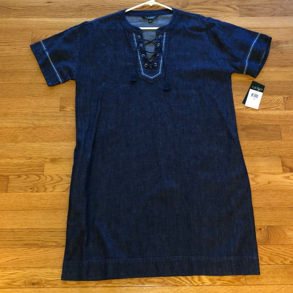 Lauren Ralph Lauren Dresses & Skirts - NWT Lauren by Ralph Lauren indigo denim dress